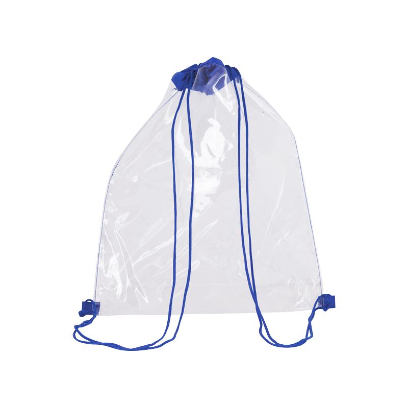 Mochila cuerdas personalizada clear de poliéster con impresión imagen 1