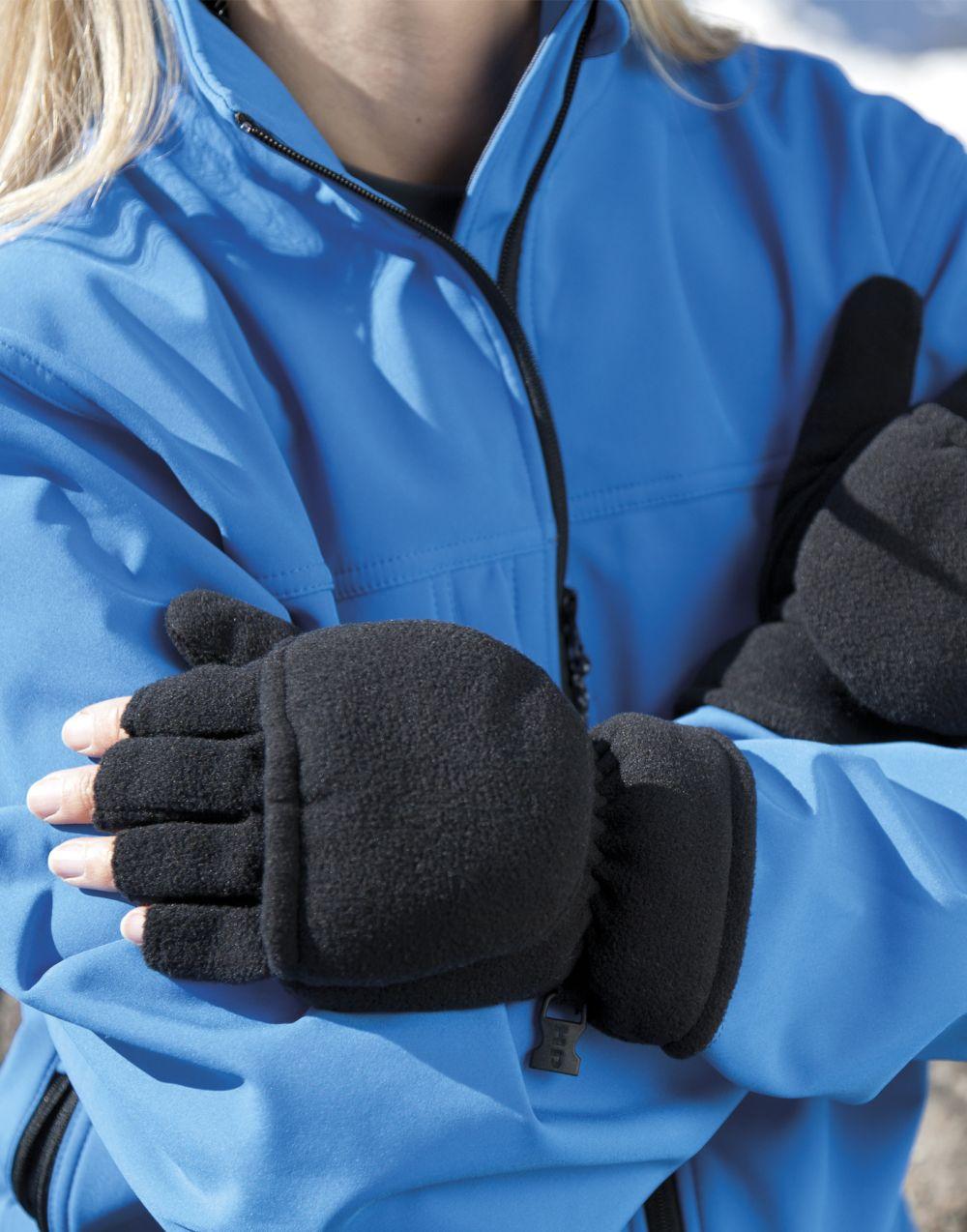 Guantes invierno result guantes mitones palmgrip con publicidad vista 2