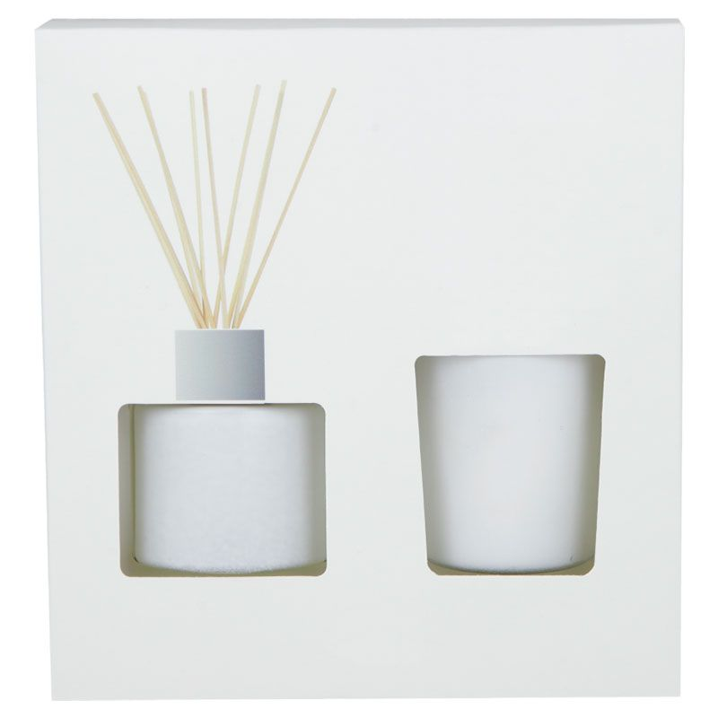 Ambiente y velas set de ambientador y vela zen de cristal imagen 1