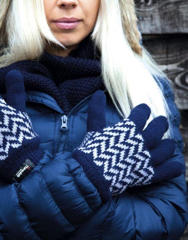 Guantes invierno result guantes con patrón thinsulate con logo vista 1