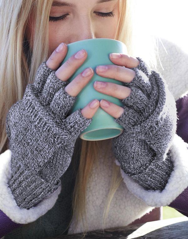 Guantes invierno beechfield guantes fliptop con publicidad vista 1