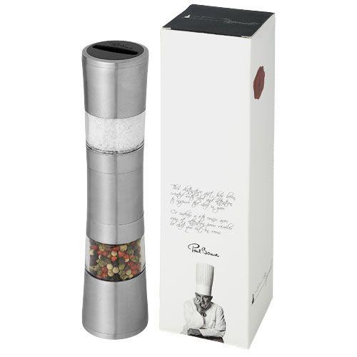 Sal y pimienta molino doble de pimienta y sal dual de metal vista 1