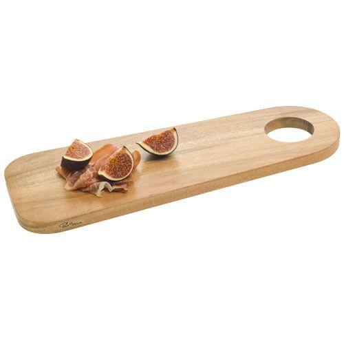 Aperitivos tabla para servir bistro de madera con impresión vista 1