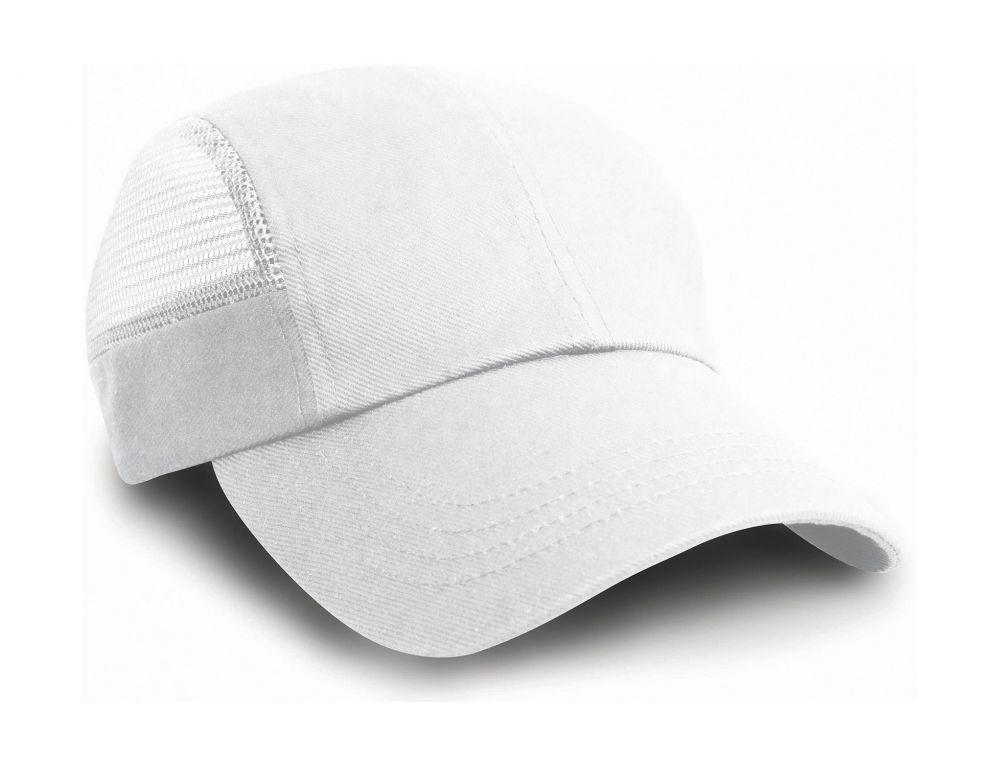 Gorras deportivas result sport con rejilla lateral con publicidad vista 1