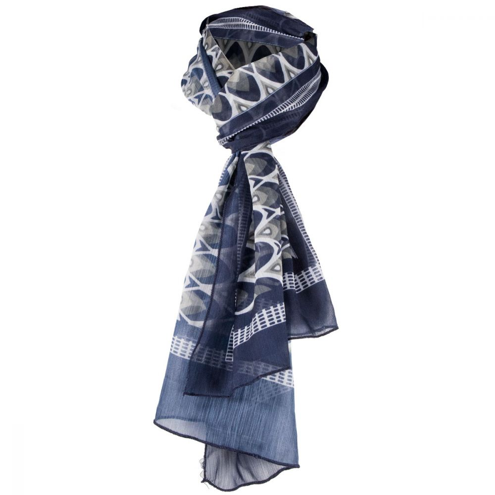Complementos vestir foulard etamine de chiffon con logo vista 1