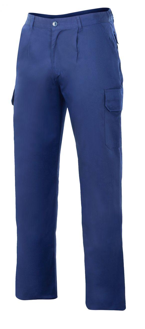 Pantalones de trabajo velilla acolchado y multibolsillos de algodon para personalizar vista 1