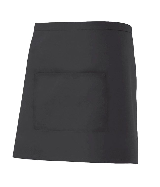 Delantales de hostelería velilla corto con bolsillo central de algodon para personalizar vista 1