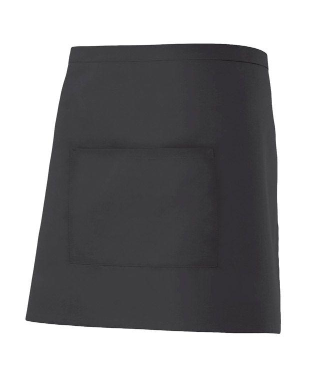 Delantales de hostelería velilla corto con bolsillo central de algodon vista 1