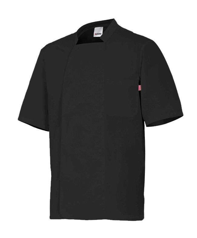 Chaquetas de cocinero velilla de cocina manga corta cuello tirilla de algodon para personalizar vista 1