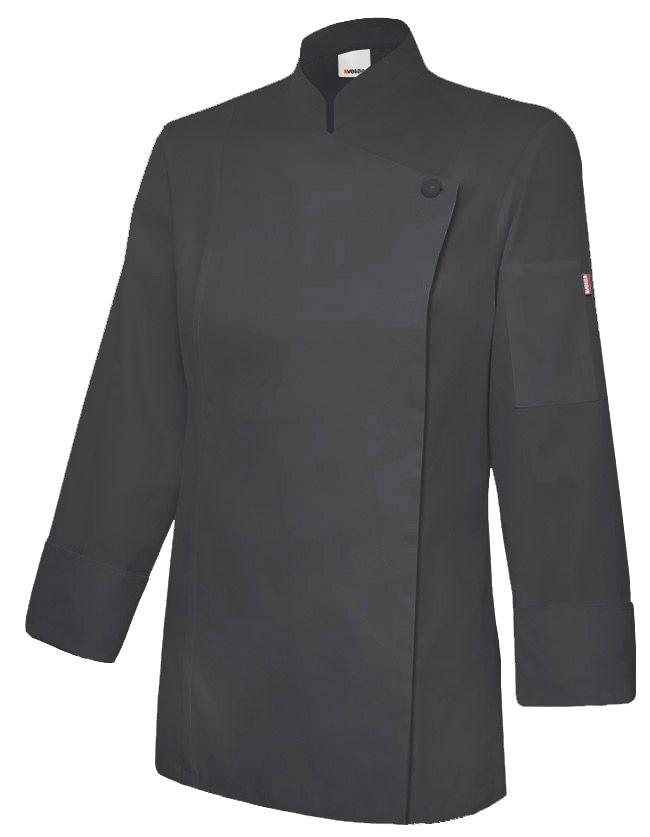 Chaquetas de cocinero velilla de cocina mujer con cremallera de algodon para personalizar vista 1