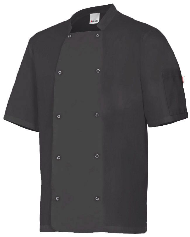 Chaquetas de cocinero velilla de cocina con automaticos manga corta de algodon imagen 1