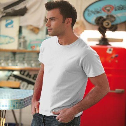 Camisetas manga corta keya mc150w de 100% algodón para personalizar vista 1