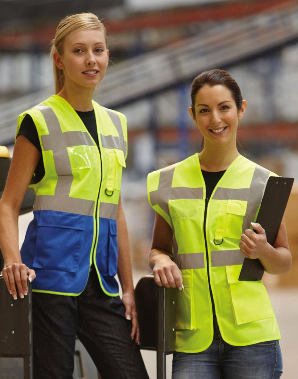 Chalecos reflectantes yoko de seguridad fluo con publicidad vista 7