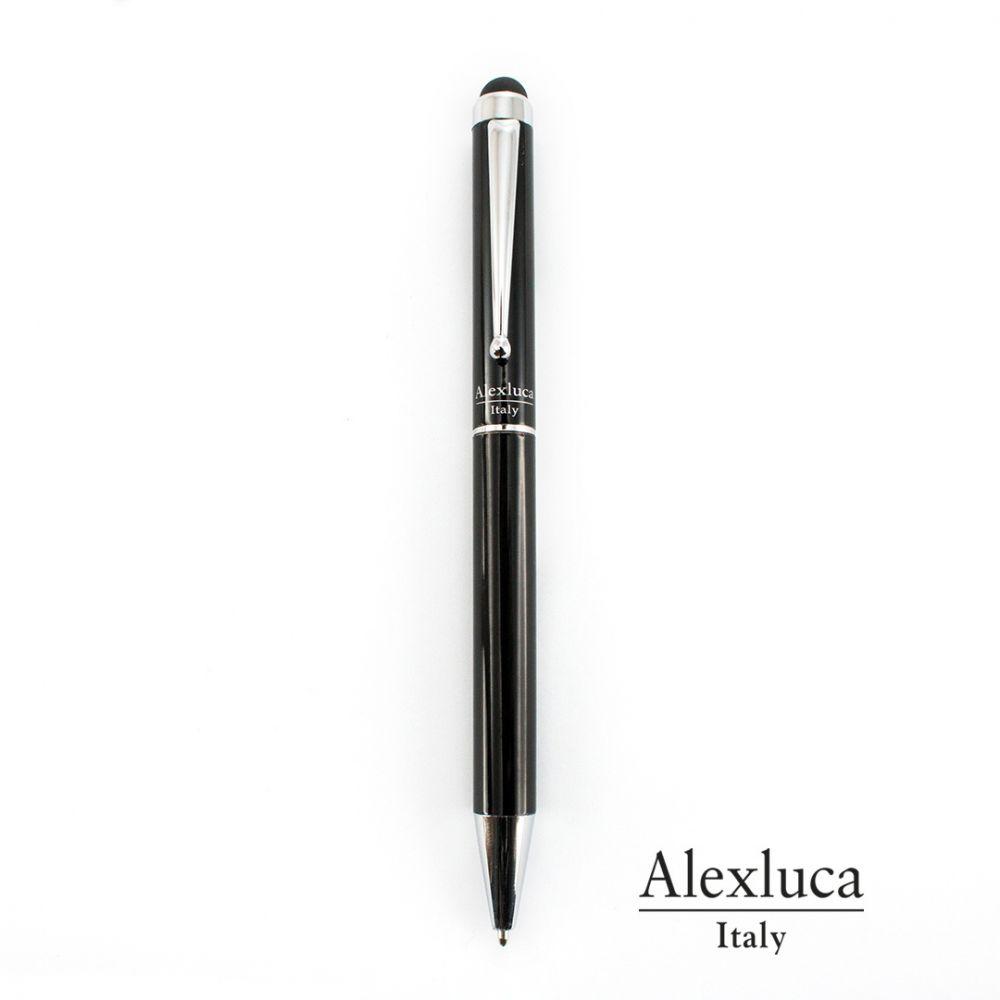 Bolígrafos de lujo alexluca salend de metal con publicidad vista 1