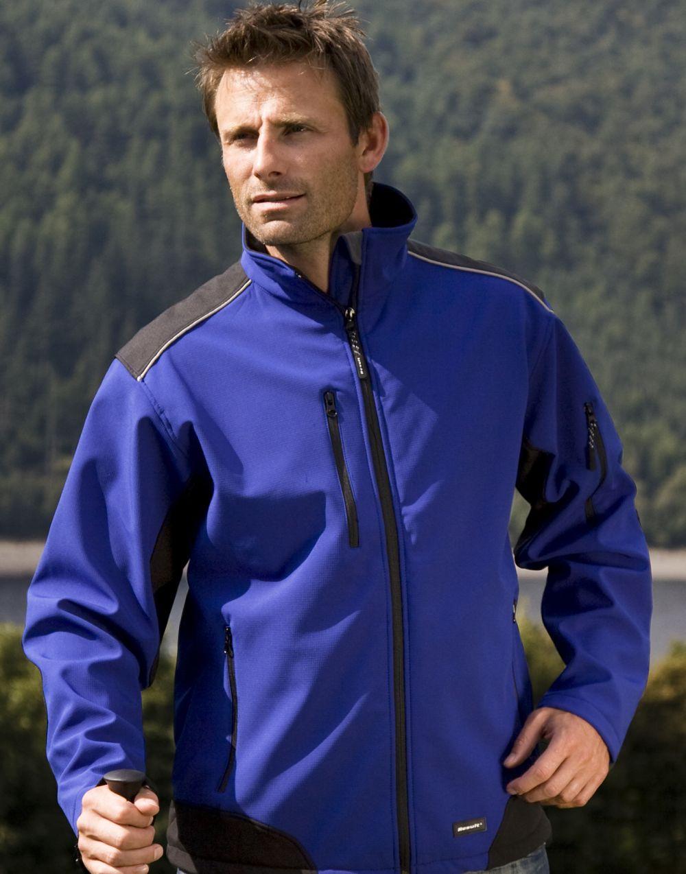 Chaquetas y cazadoras de trabajo result chaqueta de trabajo softshell ripstop con logo imagen 4
