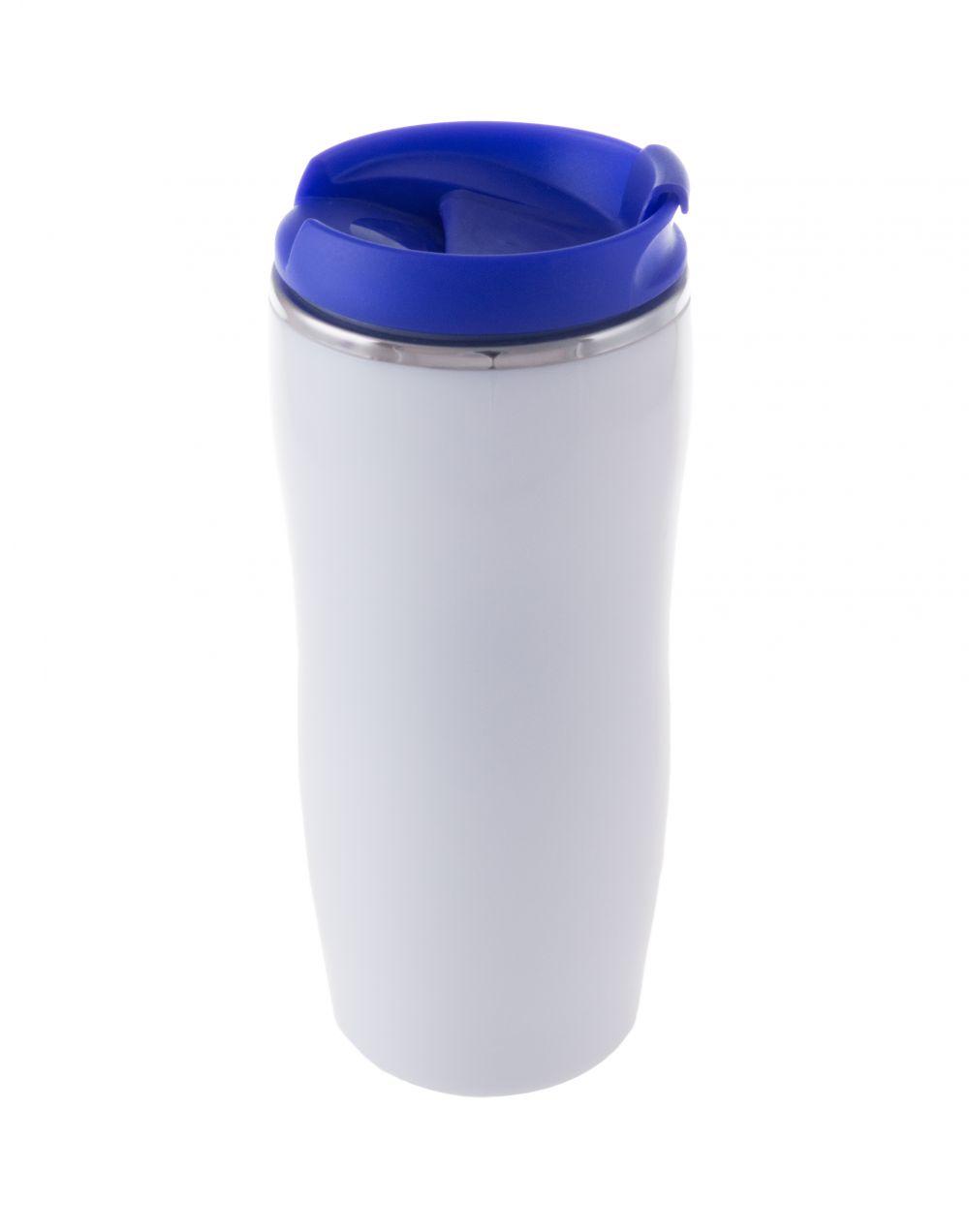 Vasos para llevar zicox de metal con logo vista 1