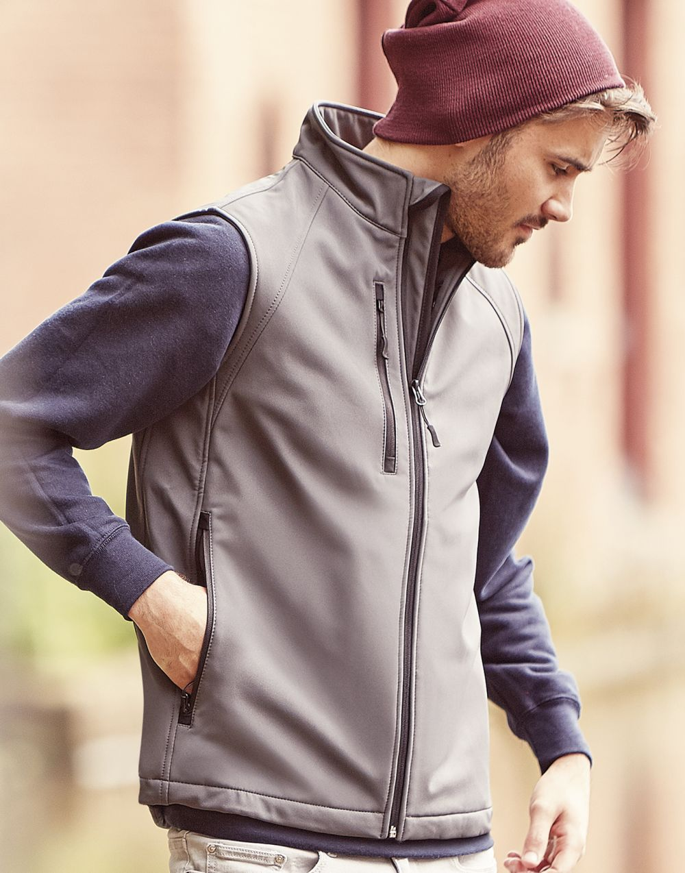 Chalecos russell softshell hombre vista 1