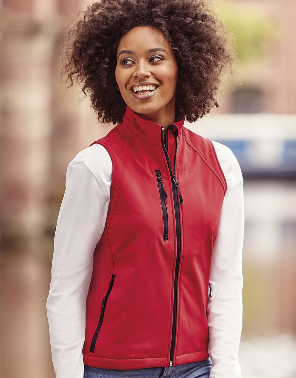 Chalecos russell softshell mujer imagen 2