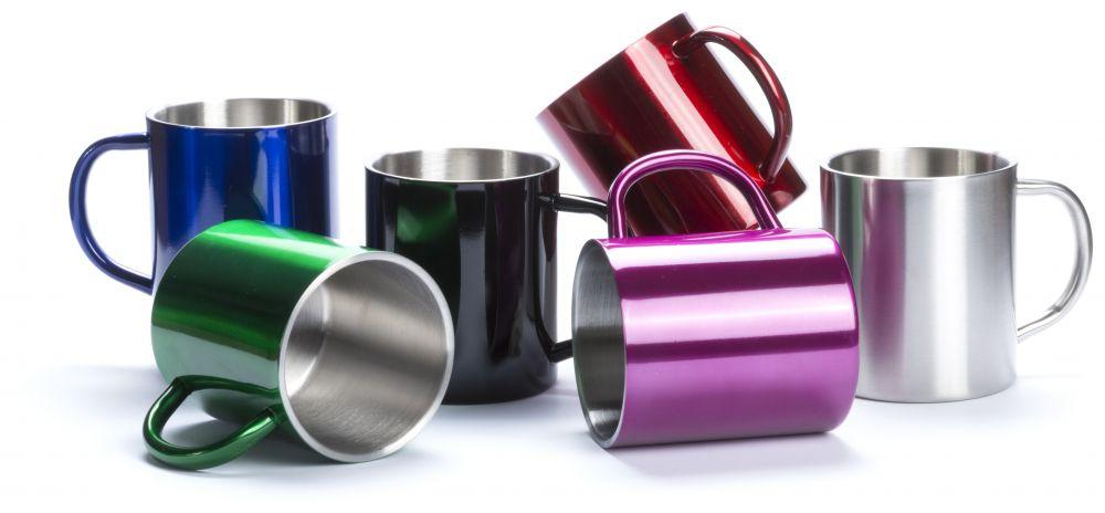 Taza clásica yozax de metal para publicidad vista 1