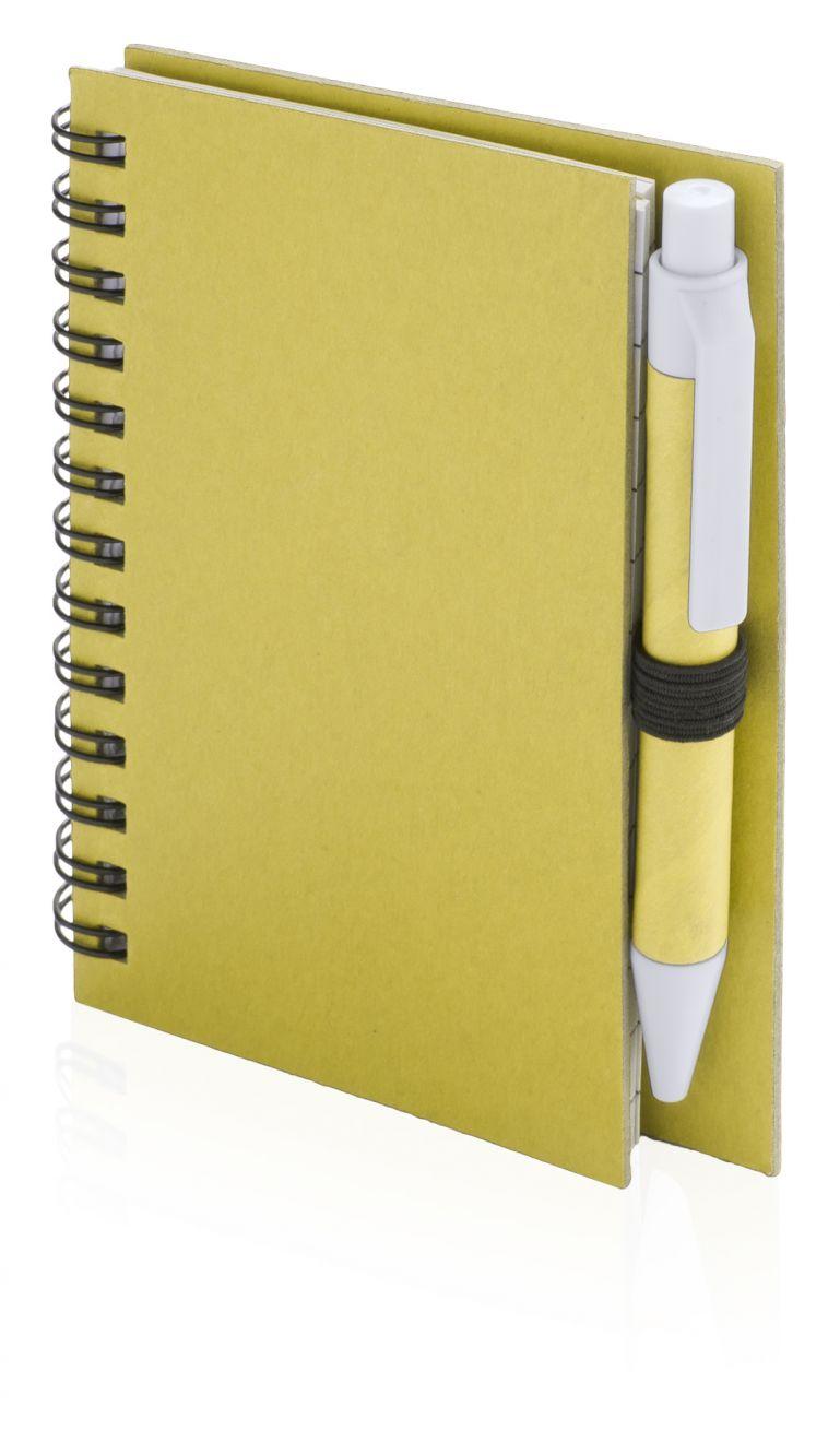 Cuadernos con anillas pilaf de cartón ecológico con logo vista 1