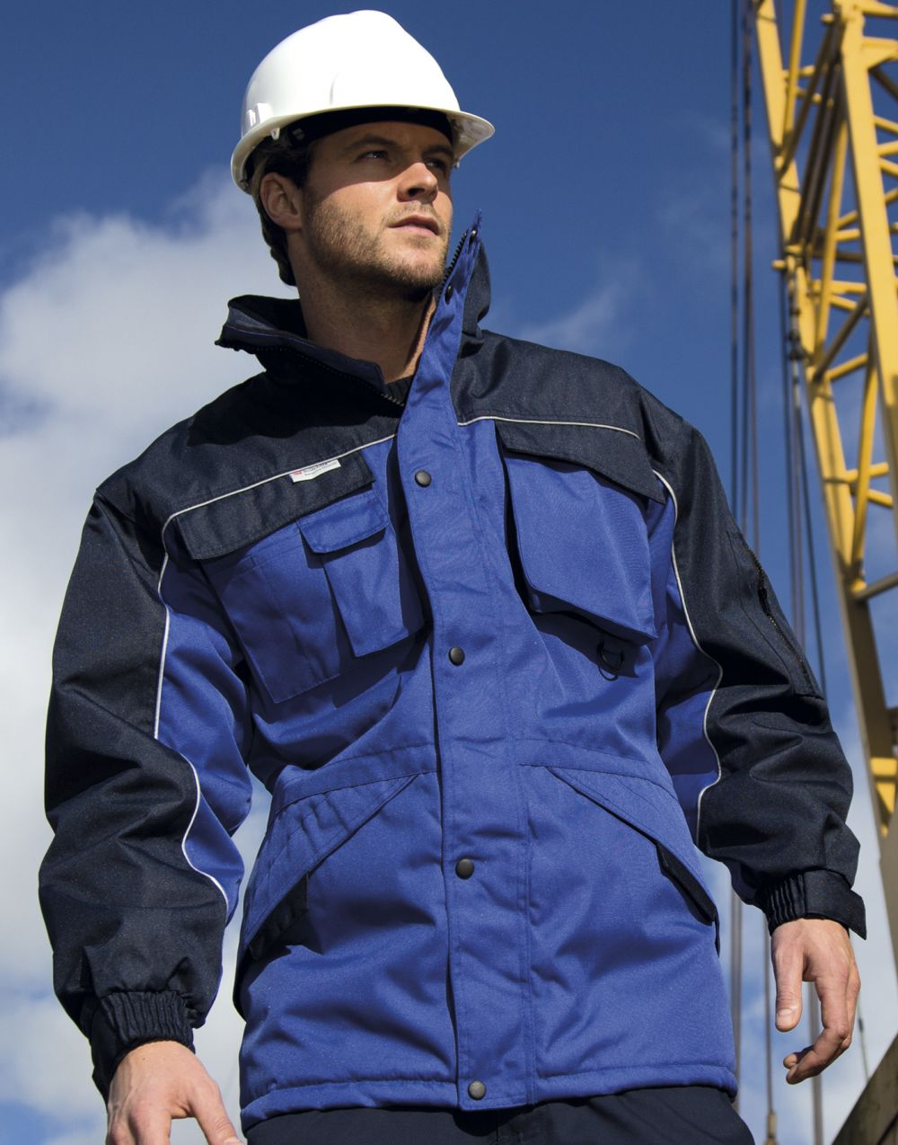 Chaquetas y cazadoras de trabajo result abrigo combo industrial workguard™ con logo vista 2