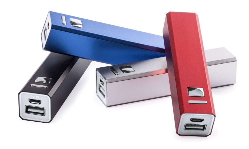 Baterias power bank thazer de metal con logo imagen 1