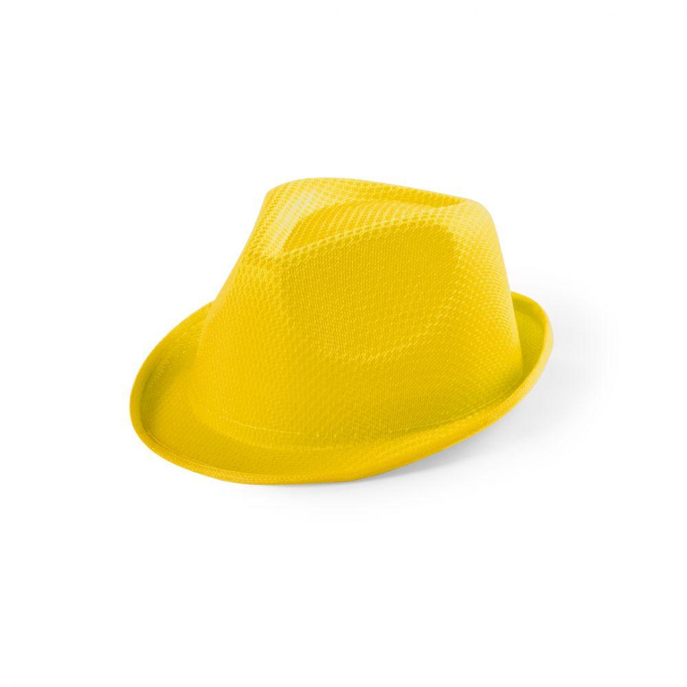 Sombreros tolvex de poliéster con logo vista 1