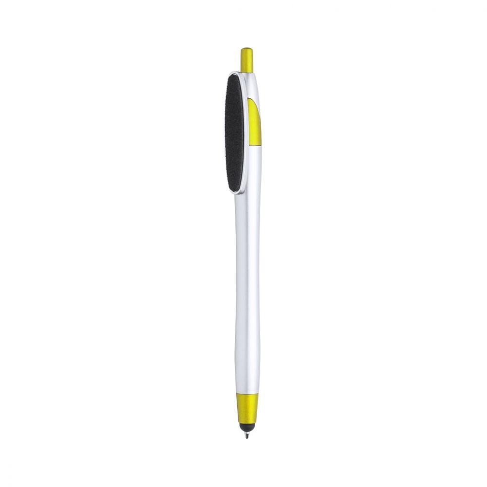 Bolígrafos puntero táctil tesku con logo vista 1