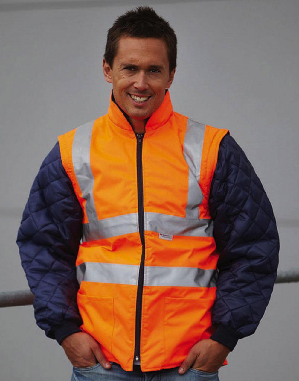 Chaquetas de trabajo yoko chaqueta acolchada con mangas extraíbles fluo vista 1