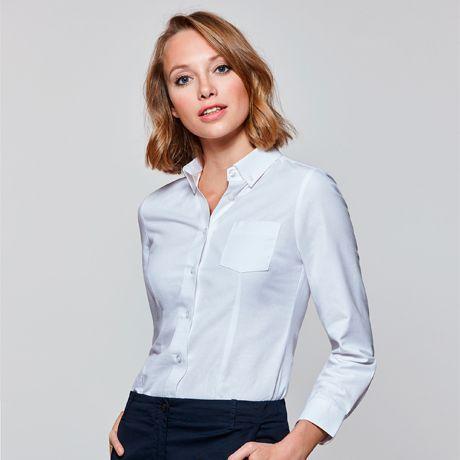 Camisas manga larga roly oxford mujer de algodon con impresión vista 1