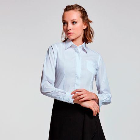 Camisas manga larga roly sofia ls de poliéster imagen 1