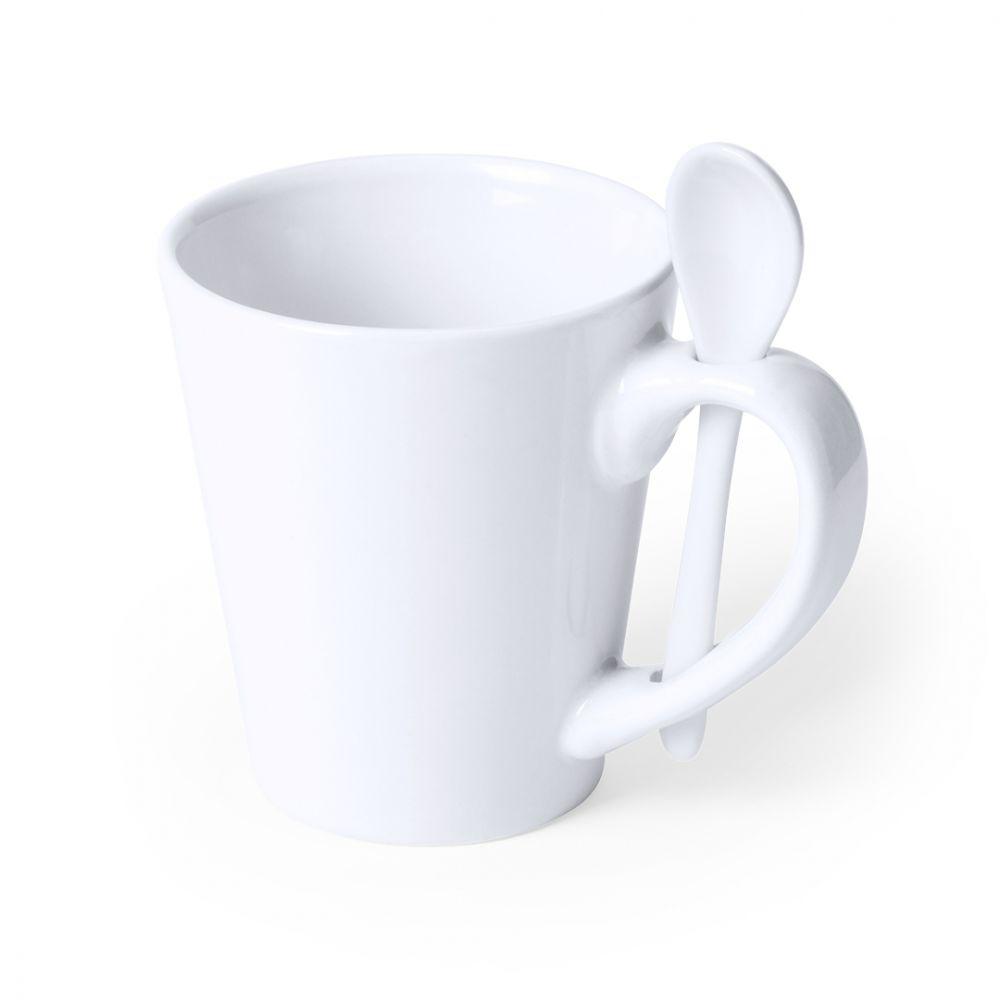 Taza clásica kaffir de cerámica con publicidad vista 1