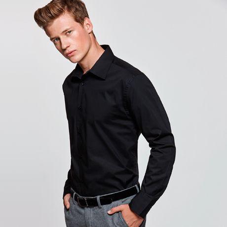 Camisas manga larga roly moscu de algodon con publicidad vista 1