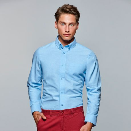 Camisas manga larga roly oxford de algodon para personalizar vista 1