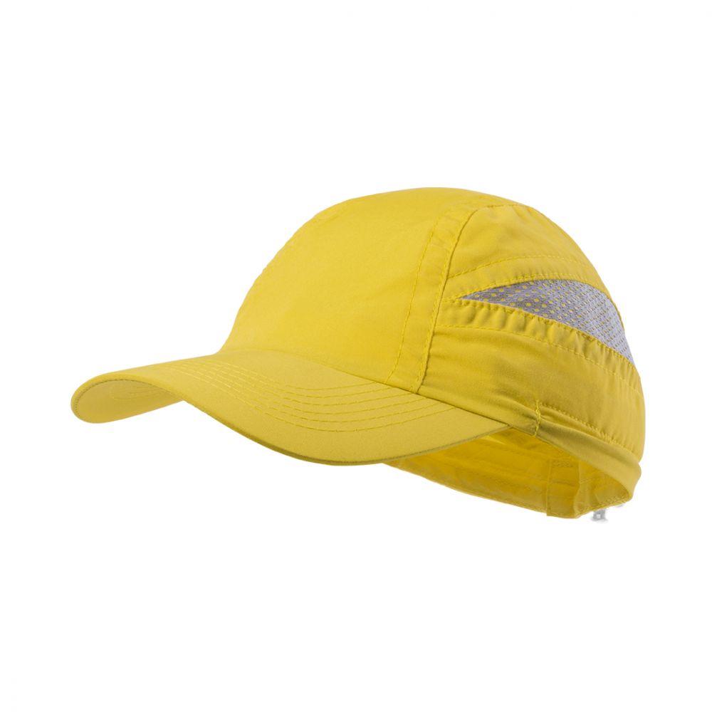 Gorras serigrafiadas laimbur de microfibra con publicidad vista 1