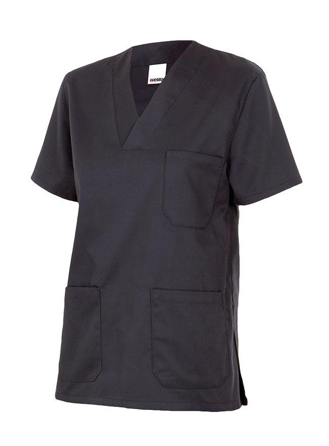 Casacas sanitarias velilla camisola pijama manga corta de algodon con impresión vista 1