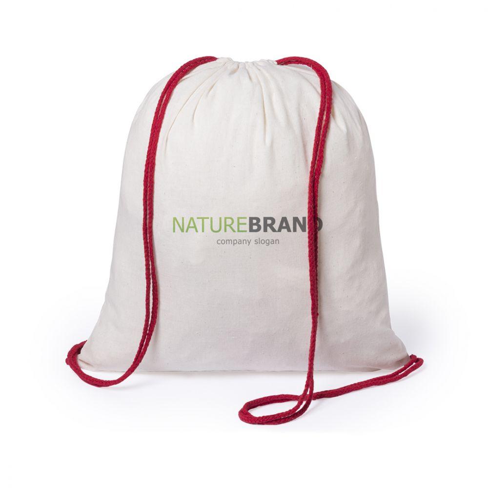 Mochila cuerdas personalizada tianax de 100% algodón ecológico con logo vista 1