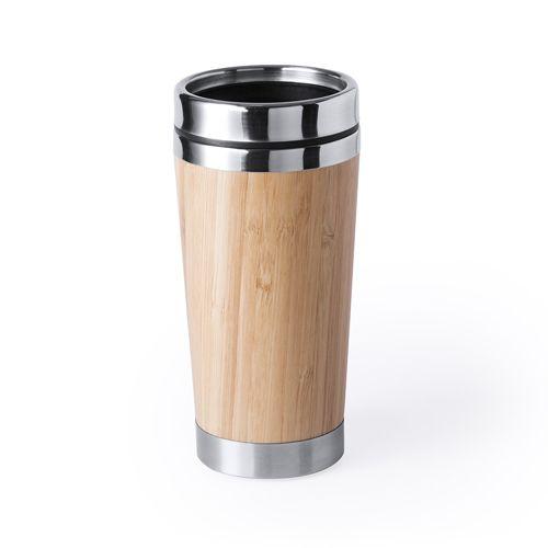Vasos para llevar ariston de metal ecológico con logo vista 1