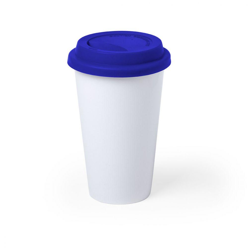 Vasos para llevar keylor de cerámica con impresión vista 1