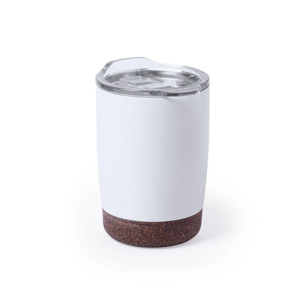 Vasos para llevar nerux de metal ecológico con impresión vista 1