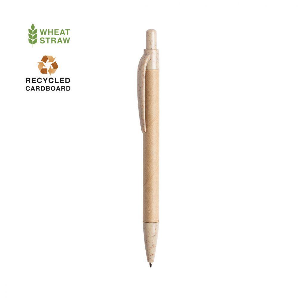 Bolígrafos filax de cartón ecológico con impresión vista 1