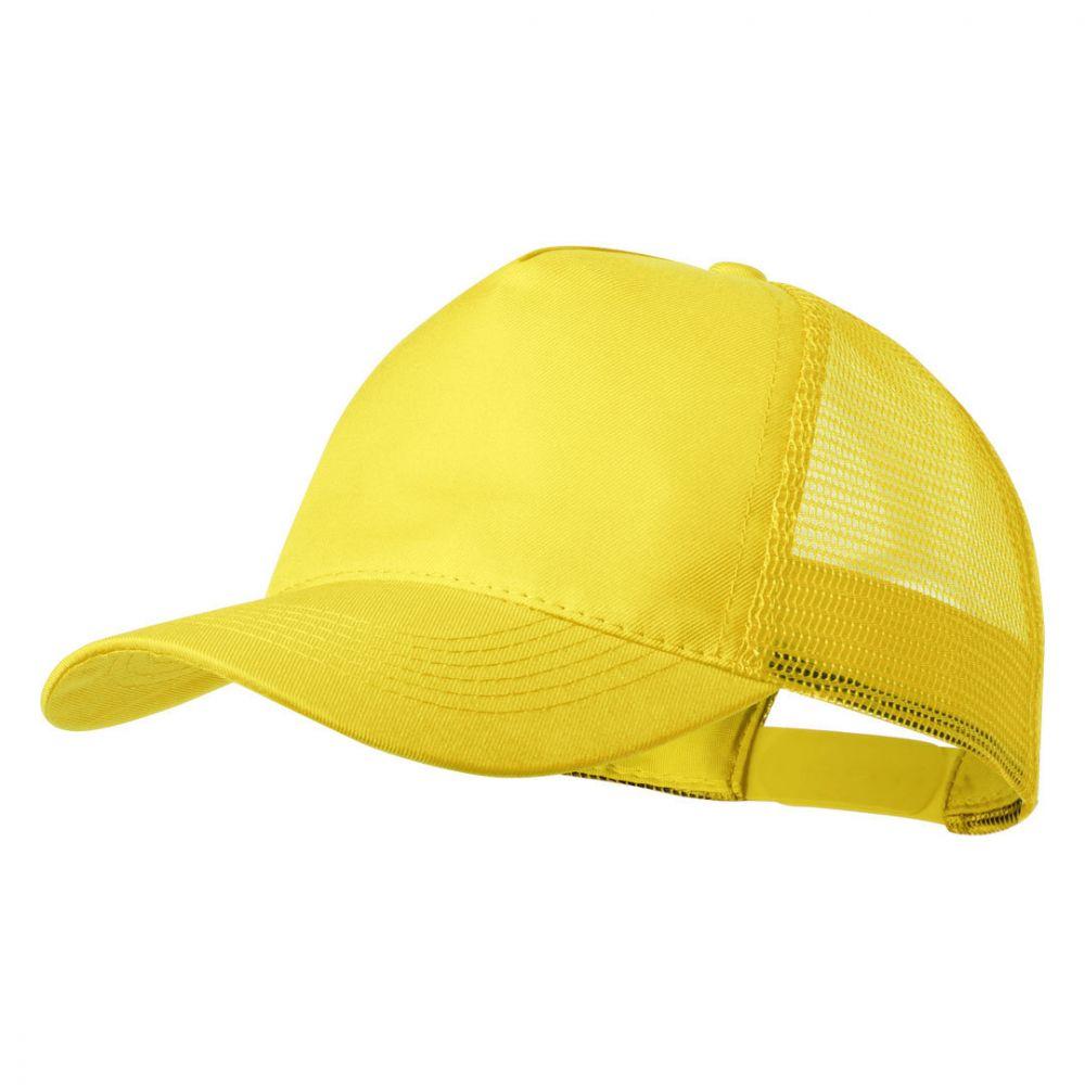 Gorras serigrafiadas clipak de poliéster con logo vista 1