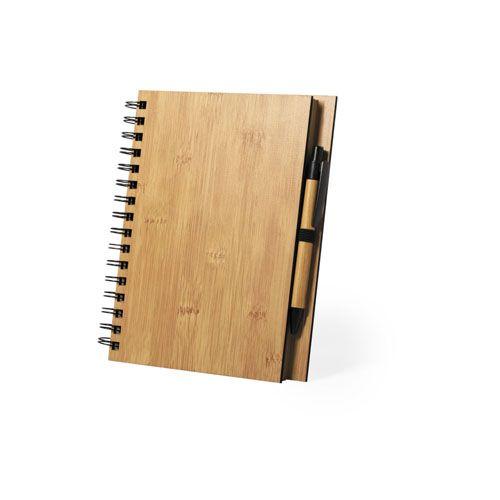 Cuadernos con anillas polnar de bambú ecológico para publicidad vista 1