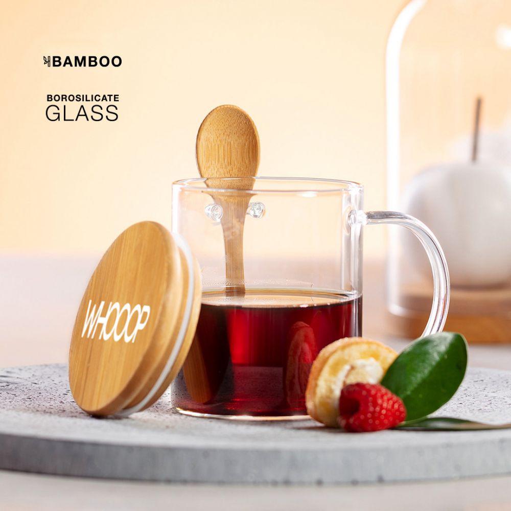 Tazas y mugs kipal de cristal ecológico con impresión vista 2