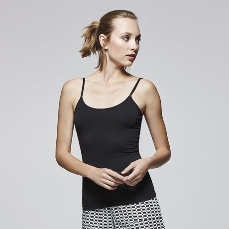 Camisetas tirantes roly carina mujer de algodon con publicidad vista 1