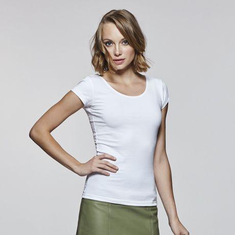 Camisetas manga corta roly agnese mujer de algodon con logo imagen 2