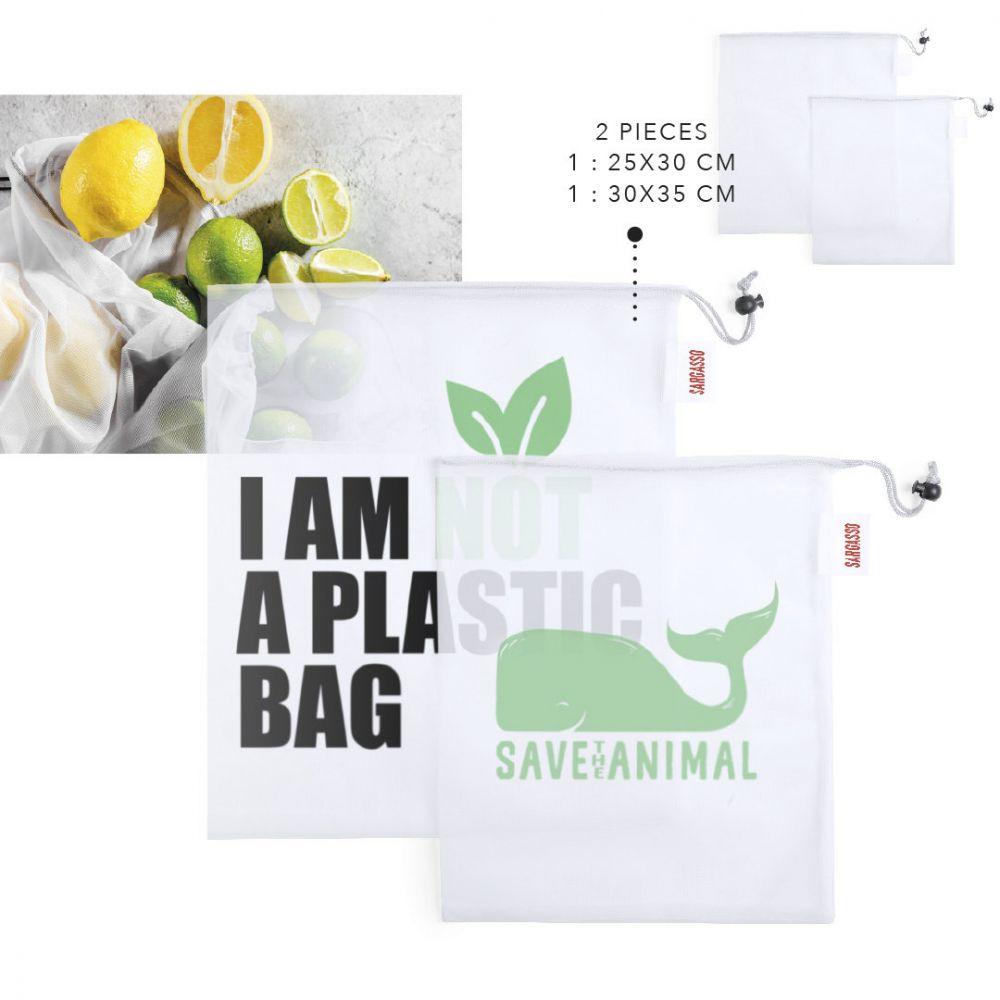 Bolsas compra kortal de poliéster ecológico con publicidad vista 2