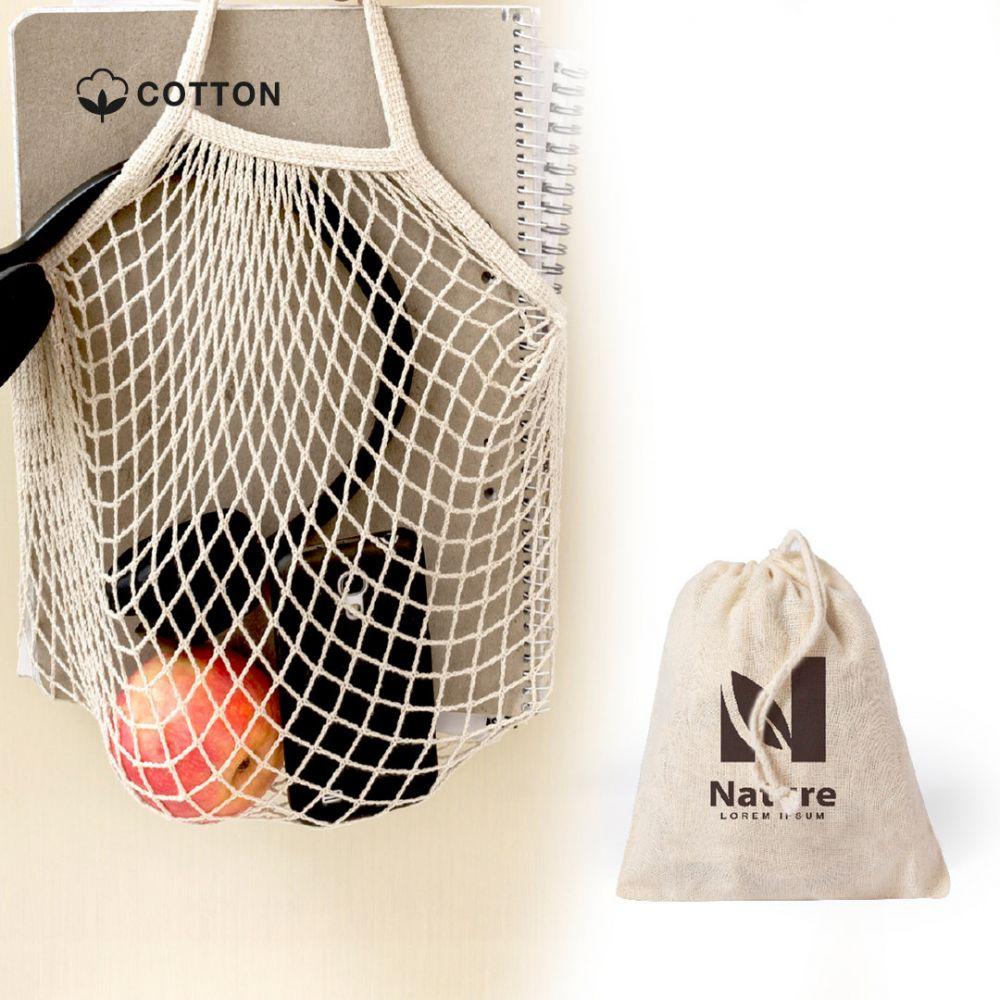 Bolsas plegables nacry de 100% algodón ecológico con impresión vista 2