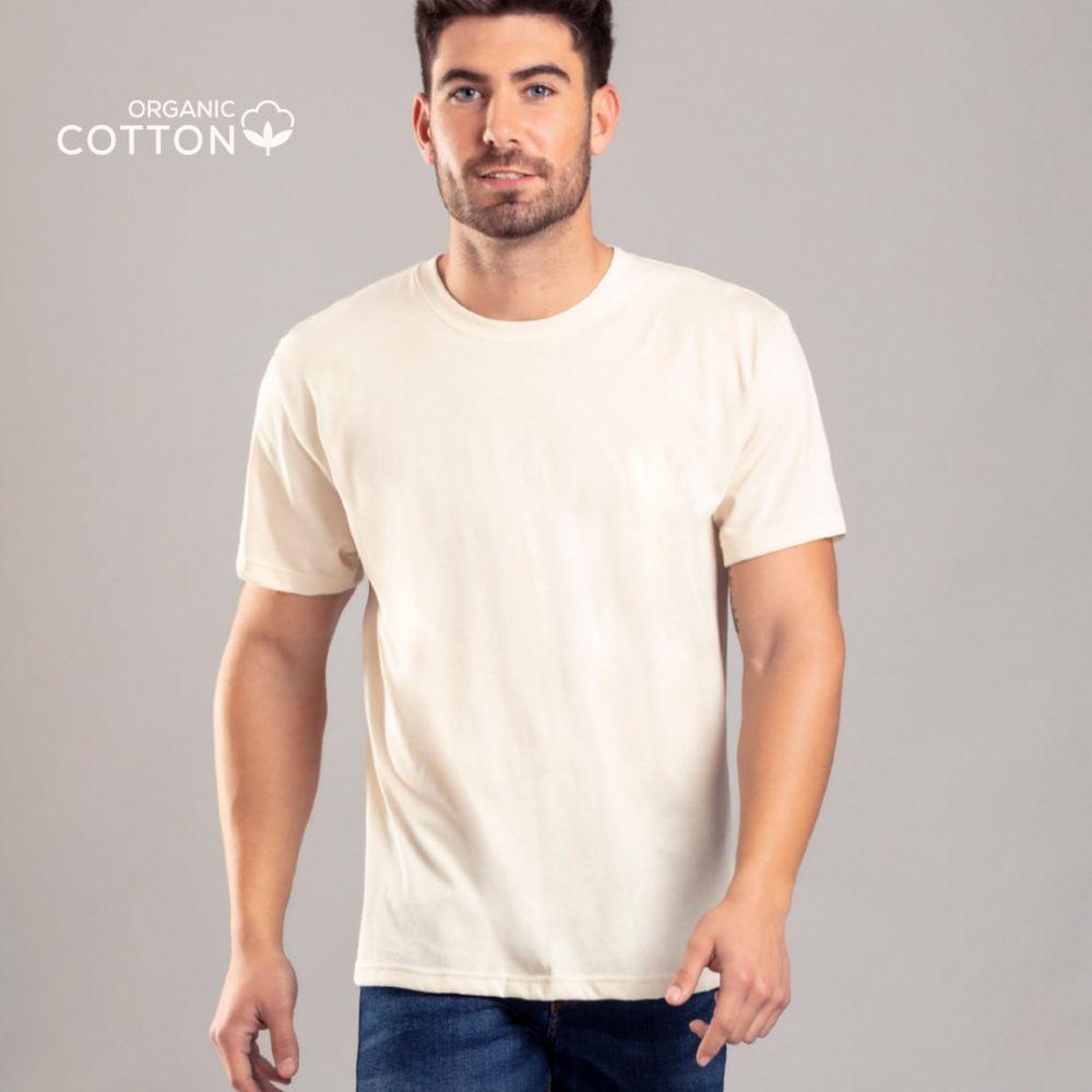 Camisetas manga corta keya organic mc150 de 100% algodón ecológico con logo vista 1