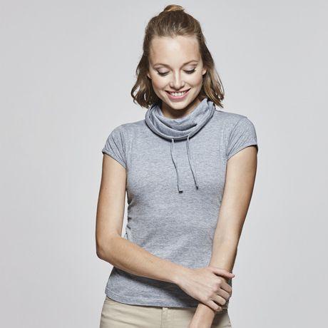 Camisetas manga corta roly laurus mujer de 100% algodón con logo imagen 1